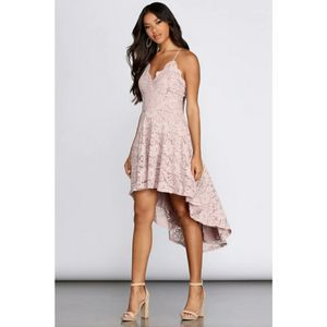 GLIDE BY LACE SKATER DRESS